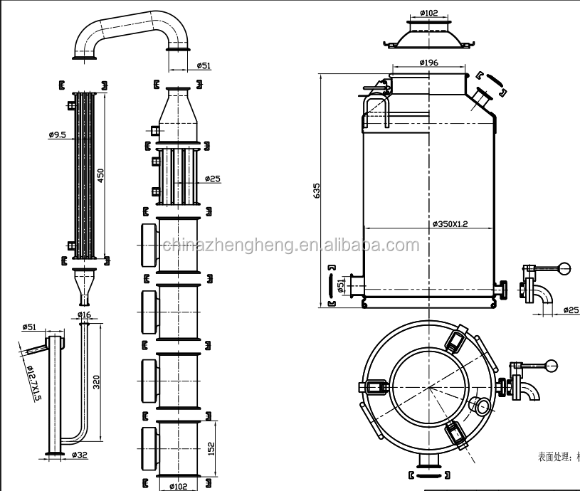 customize stainless steel water    alcohol distiller    distillation equipment