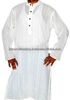 Pure White Cotton Kurta
