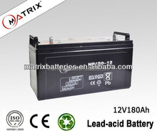 solar panel usage 12v 180ah battery made in China