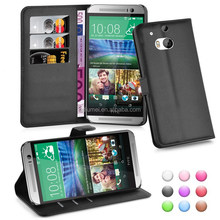 Lichee Wallet Flip Leather Case Cover For HTC One M9