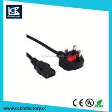 10A 250V UK Male to IEC 320 C7 power lead for LCD LED TV, figure 8 cord 2m