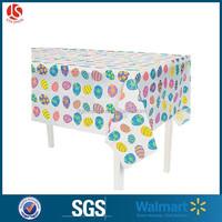 Walmart Easter designs Graving printing Easter Egg plastic tablecloth for easter