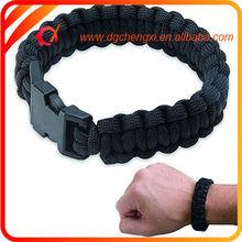 """Military Survival Paracord Bracelet 9"""" Black"""