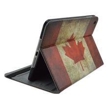 for ipad mini Canada Flag Flip Folio Stand PU Leather Tablet Cover Case For iPad mini 1/2/3