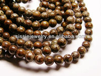 Brown snowflake obsidian 8mm round beads