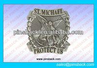 2013 Antique brass 3D design safety Metal lapel Pin Badge