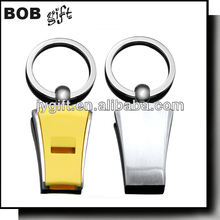 Alloy Metal Type and keychain Type whistle key finder keychain