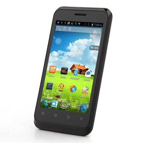 Original ZTE V889S 4 pulgada 800x480 MTK6577 doble núcleo Android 4.1 negro 512Mb 4GB Wifi GPS Teléfono móvil