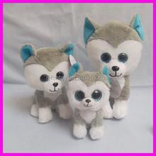 soft animal toys plush dog with big eyes