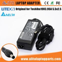 Original Genuine For Toshiba ADP-75SB AB AC/DC Adapter 19V 3.95A LITEON