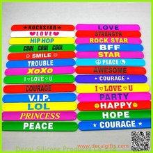 New !! color printed logo plain wholesale slap bracelets for promotion gifts