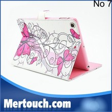Butterfy flower print leather wallet flip case for ipad air Pu leather case book style protector case for iPad air