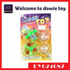 Colorful UFO baby spinning toys Plastic Toy Top with flying saucer for kid for fun