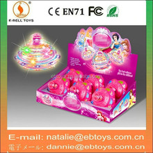11cm plastic spin top toy with light music