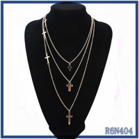 indonesia mens fashion multi-layer long chains necklace 2015 tribal style cross necklace