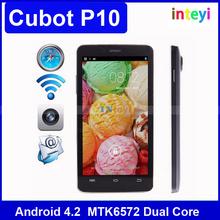 Original CUBOT P10 Smartphone Android 4.2 MTK6572 Dual Core Mobile Phone Dual SIM 1G RAM 8G ROM GPS c
