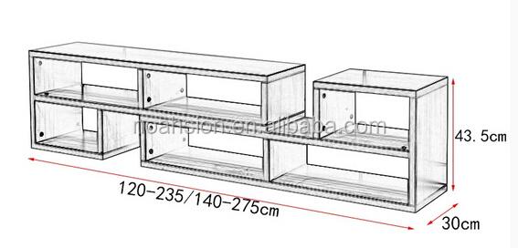 Vente chaude livraison bricolage meuble tv meuble tv for Mobile tv dwg