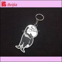 Keychain type Customized 2d/3D Soft PVC Keychain /rubber keyring unique animal design