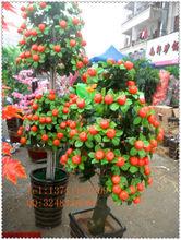 Frutas artificial árvore em vaso / falso laranja bonsai árvore / fruta artificial planta para o ano novo decoração