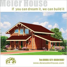 prefab wooden villa, vacation wooden house with parking place DY-E-240