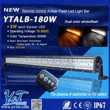 Y&T Wholesale price!180w flash led light bar 41.5 inch high intensity IP 67 china manufacturer