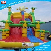 2015 wet dry commercial inflatable water slide slip n slide, giant inflat slide for kids and adult