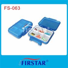 Small waterproof case pill box 6 compartments FS-063