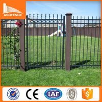 2015 Top selling cheap steel prefab fence panels, spear top steel fence