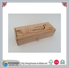 high quality carved wooden pencil box pen box wooden stationery box