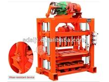 Qtj4-40 la venta caliente mini portátil tipo de pequeños bloques de concreto que hace la máquina con mezclador