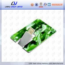 card flash drive print logo usb 2.0 credit card shaped usb flash drive