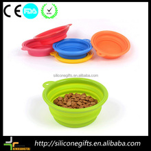 New Silicone Tableware Collapsible Pet Dog Cat Puppy Water Feeding Bowl Travel