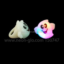 Holiday flashing promotional finger ring,Display packing-Pumpkin, Ghost, Bat assorted