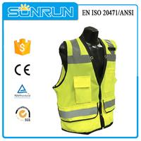 Fluorescent custom fishing vest