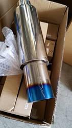 JZZ Manufacture custom petrol powered car hks exhaust muffler for honda civic