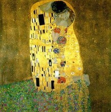 The Kiss 100% handmade high quality Gustav Klimt oil painting on canvas home decoration wholesaler price