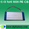 Rechargeable li-ion polymer,lipo battery with 3.7v 3700mah for energy storage system