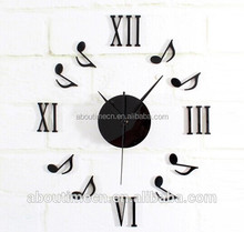 Decorative DIY wall clock with musical note