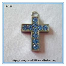 Large silver stone cross pendants cross pendant cross key chain