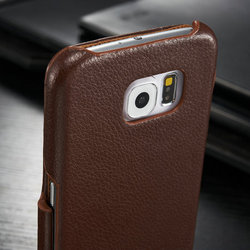 Refine leather wallet case for samsung s6 ,book style flip leather case for samsung s6