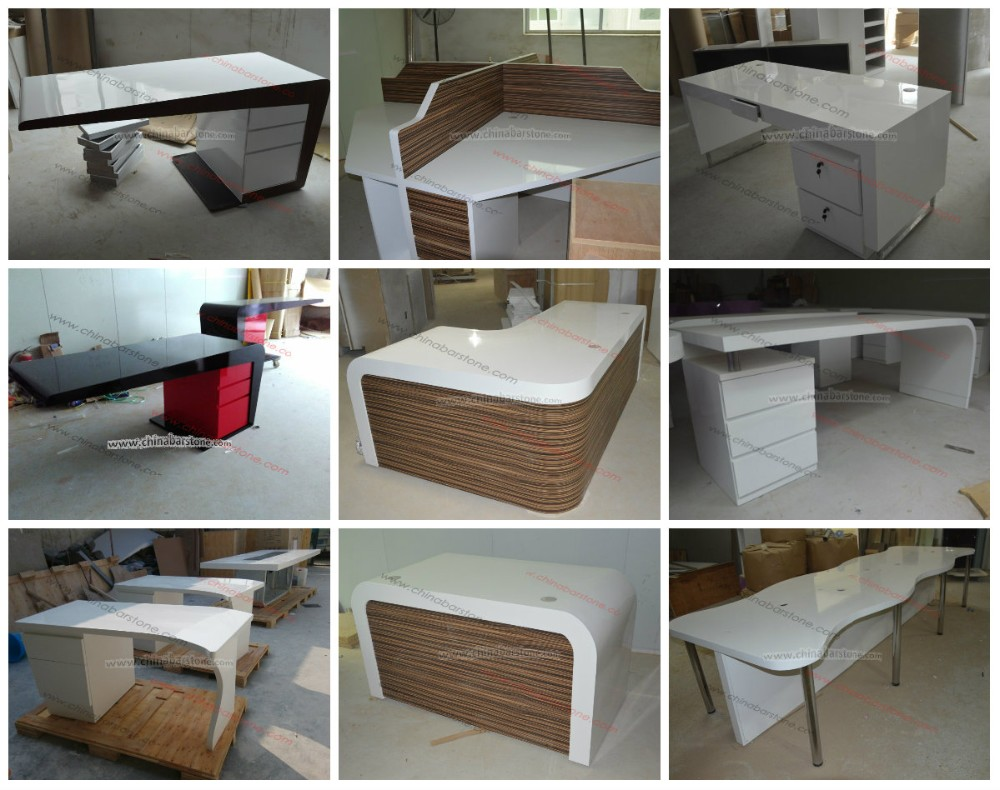 Simple Office Desk/curved Office Furniture/ Modern White Office ...