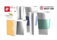 custom printed take a way plastic folding coffee cup with lids