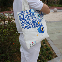 China style canvas cotton bags/organic canvas tote bag/canvas fold up tote bag