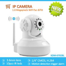 H264 Full HD 1.0Megapixels Wifi Pan &tilt IP Camera(720p), With IR CUT