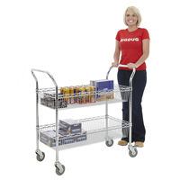Wholesale 2 Tier Metal Supermarket Shopping Trolley , NSF Approval