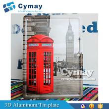 Custom metal picture sign Aluminum/ tinplate advertisement decorative metal painting