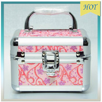 cheap aluminum round beauty cosmetic case