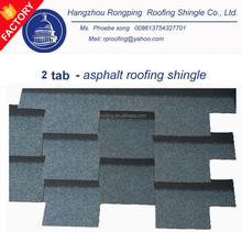 alibaba china factory supplier 2 tab fiberglass asphalt roof shingle for modern house design