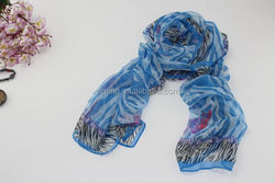 Popular most popular 100%polyester foot able fan scarf