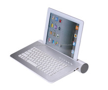 Factory price Aluminum bluetooth keyboard with speaker for Ipad Samsung tablet cellphone from Trade assuance member